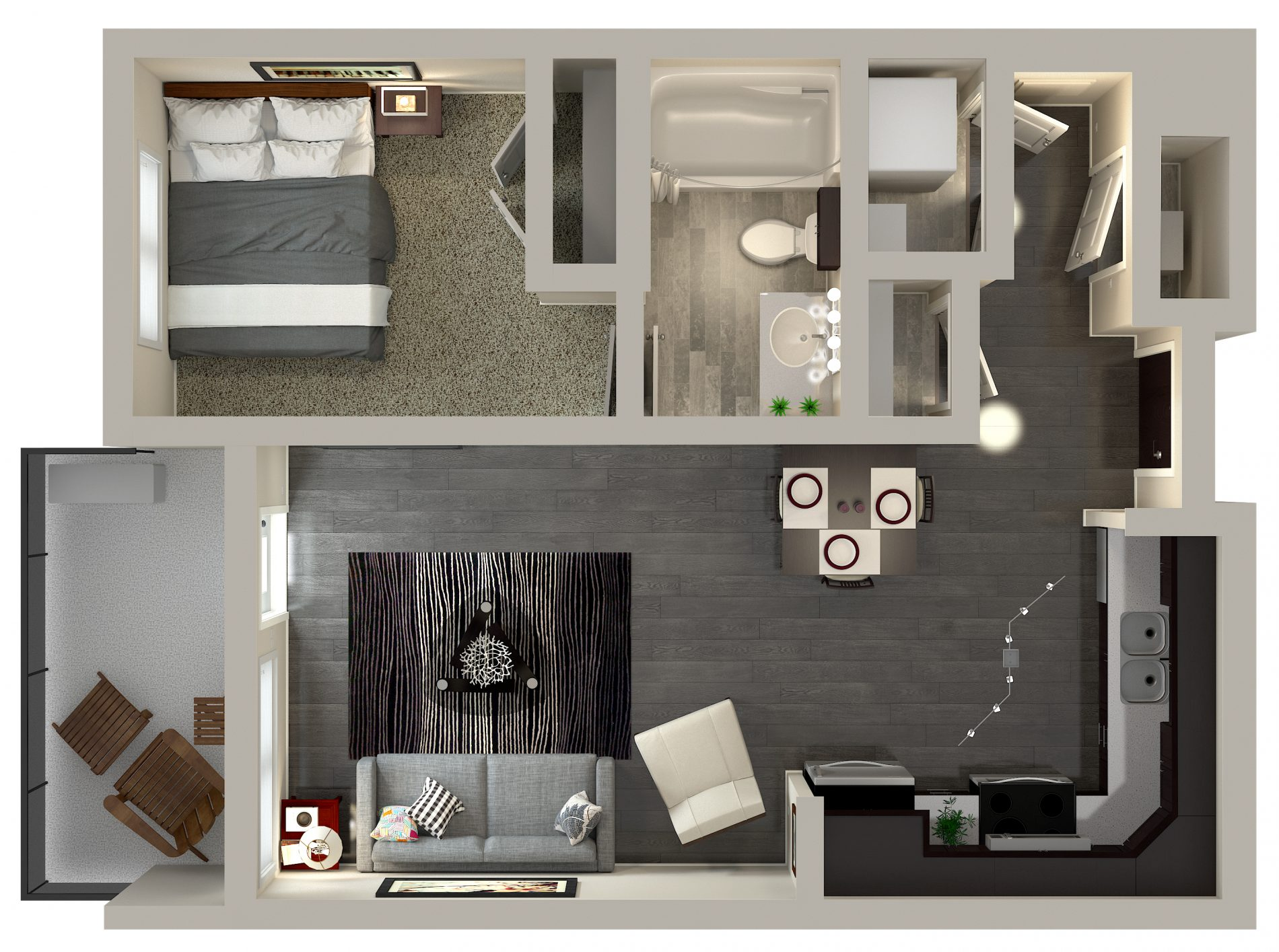 Urban Flats 1 Bedroom Condo Floor Plan