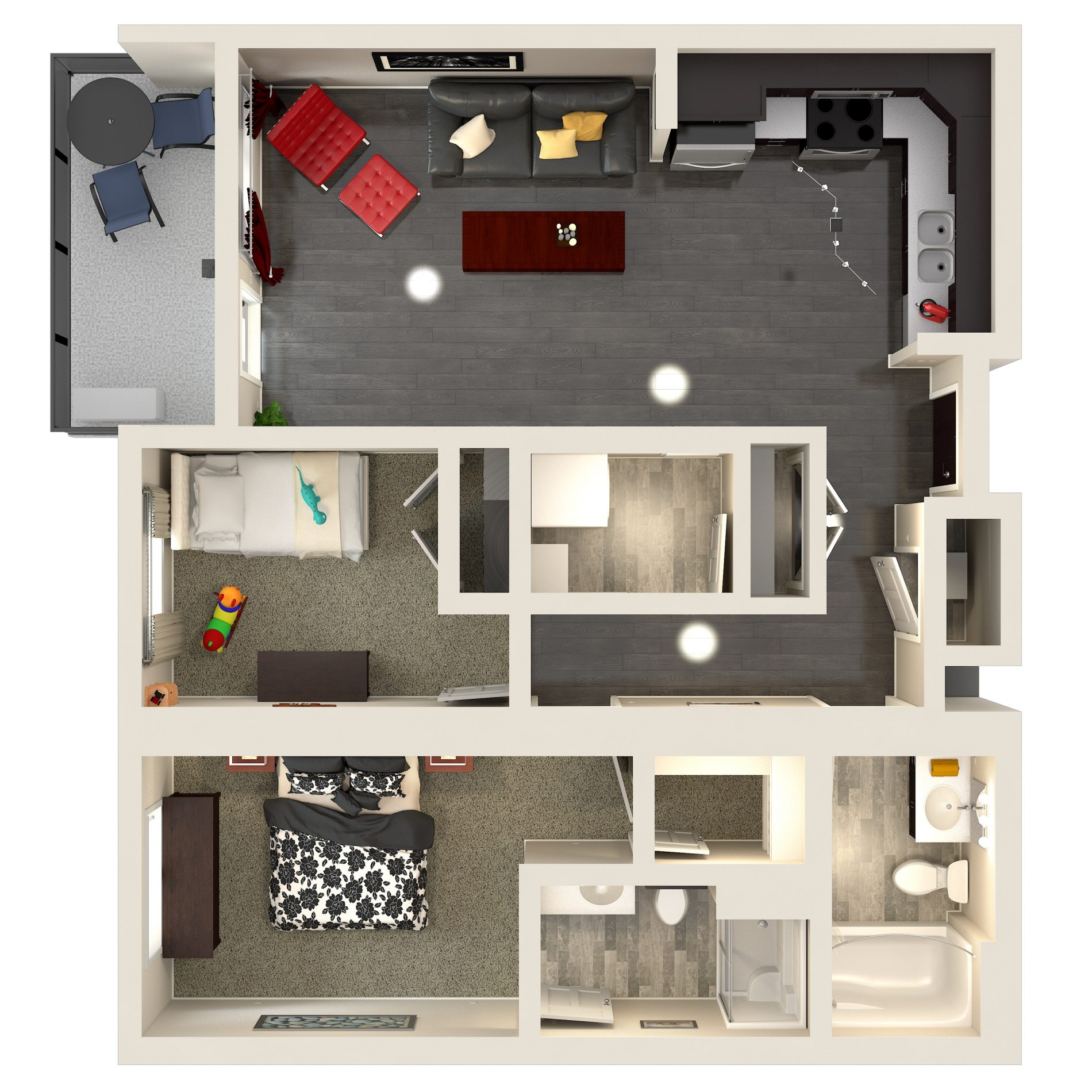 Urban Flats 2 Bedroom Condo Signature Floor Plan: 850 sq. ft. plan