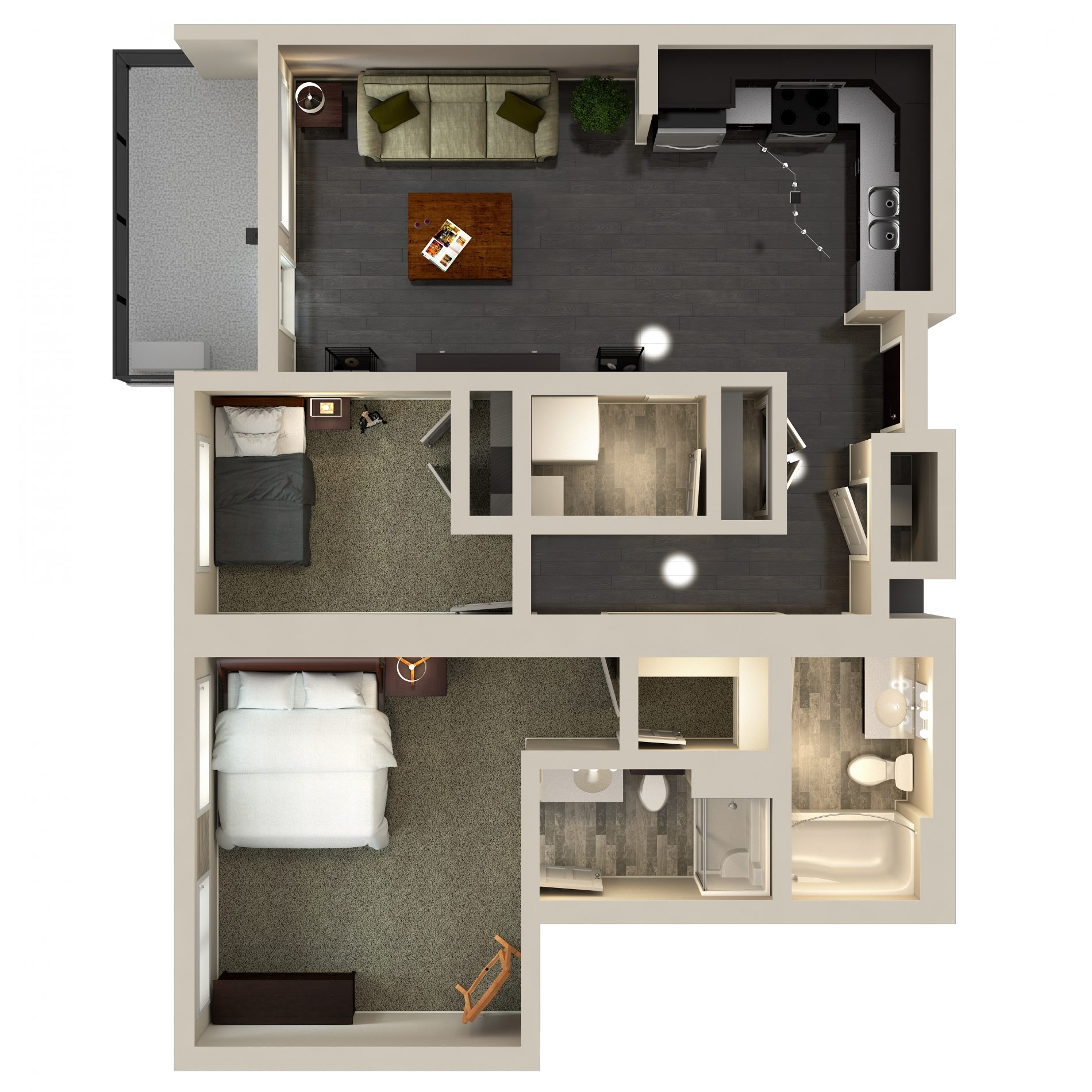 Urban Flats 2 Bedroom Condo Nova Floor Plan: 924 sq. ft.  plan