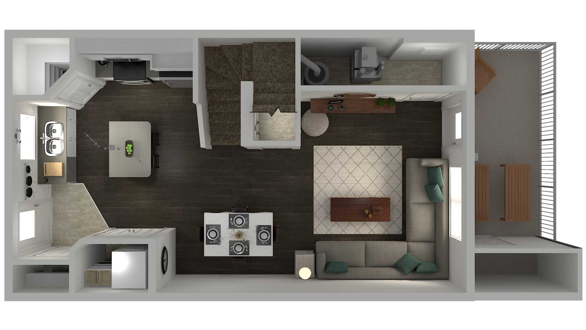 Cory Vistas 3 Bedroom Townhouse Floor Plan